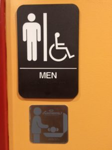 Men's Room Changing Table