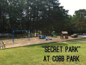 Hidden playground area at Cobb Park in Smyrna