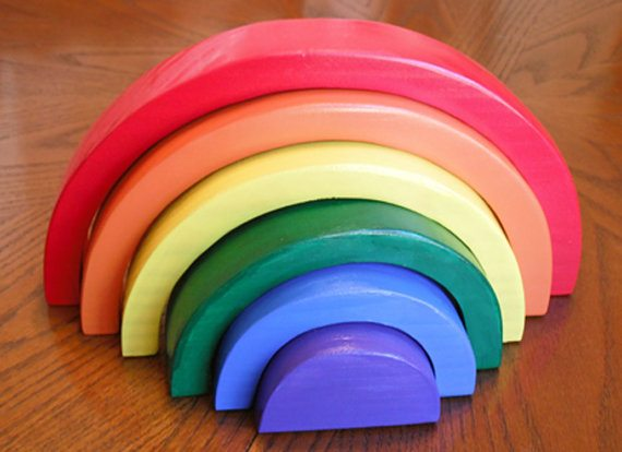 wood rainbow toy
