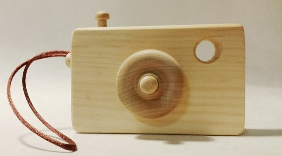 wooden toy camera image