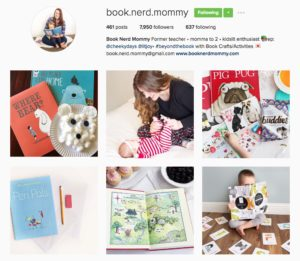 screenshot of Book Nerd Mommy Instagram account