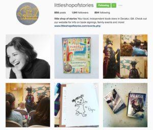 screenshot of Little Shop of Stories Instagram account