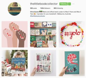 screenshot of The Little Book Collector Instagram account