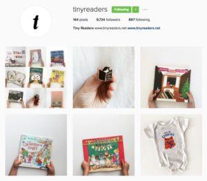 screenshot of Tiny Readers Instagram account