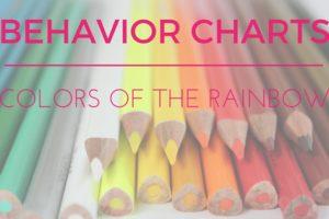 Colors of the Rainbow : Behavior Charts | Atlanta Area Moms Blog