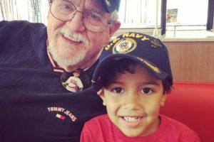 Kaden and his Grandpa, May 2018