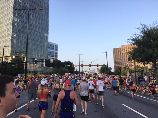 Pick out a nice place to have dinner on a future date night as you begin the Peachtree Road Race.